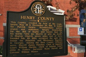 Henry County Sign
